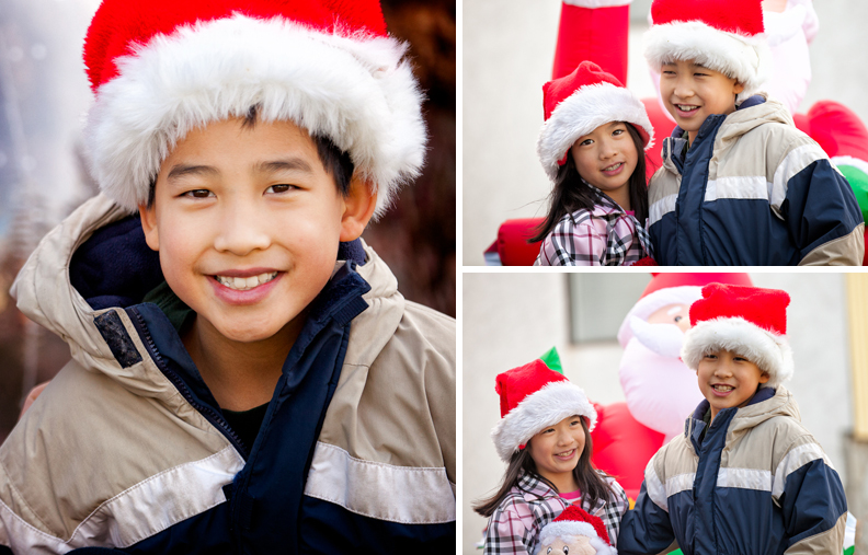 children at Christmas in Victoria BC