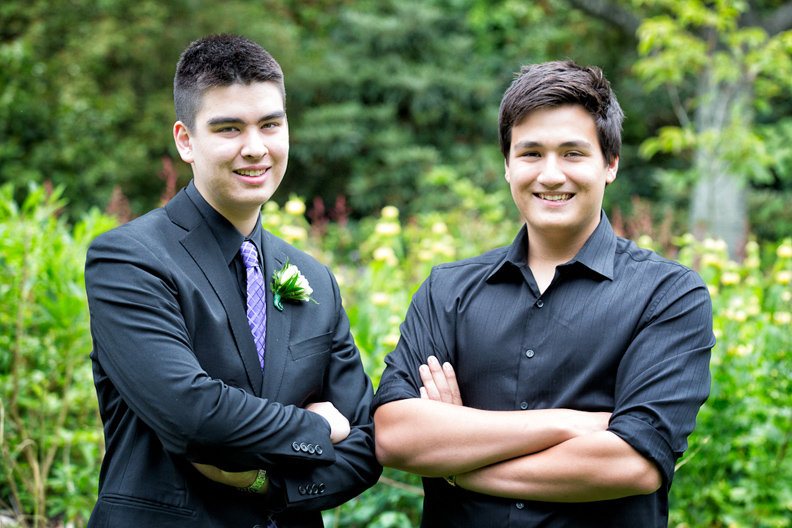 Daniel and Matthew graduation photo